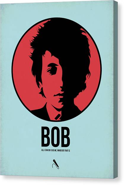 Rock Music Canvas Print - Bob Poster 2 by Naxart Studio