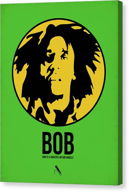 Jamaican Canvas Print - Bob Poster 3 by Naxart Studio