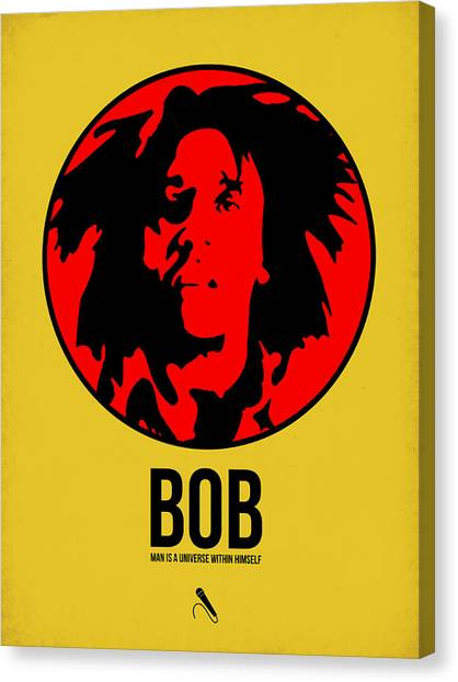 Jamaican Canvas Print - Bob Poster 4 by Naxart Studio