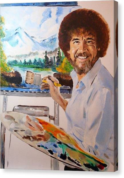 Bob Ross Canvas Print - Bob Ross by Debi Day