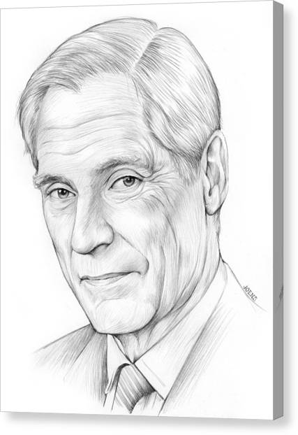 Simon Canvas Print - Bob Simon by Greg Joens