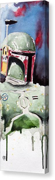 Boba Fett Canvas Print - Boba Fett by David Kraig