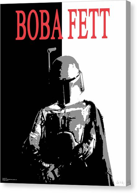 Boba Fett- Gangster Canvas Print