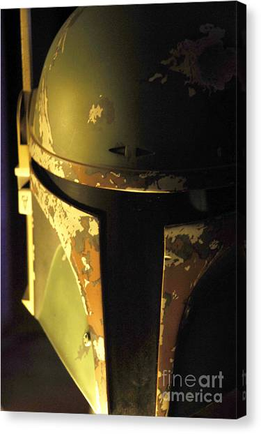 Han Solo Canvas Print - Boba Fett Helmet 124 by Micah May