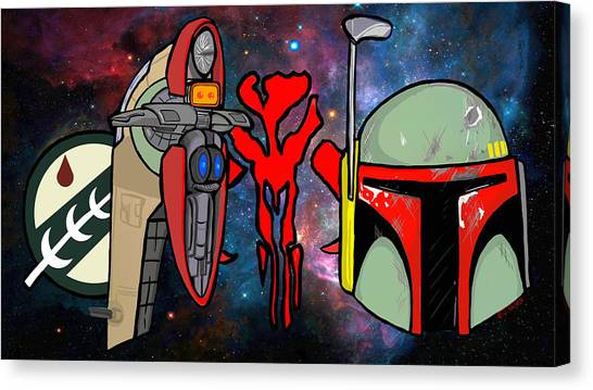 Boba Fett Icons Canvas Print by Gary Niles