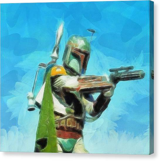 Jabba The Hutt Canvas Print - Boba Fett Painting by Dan Sproul