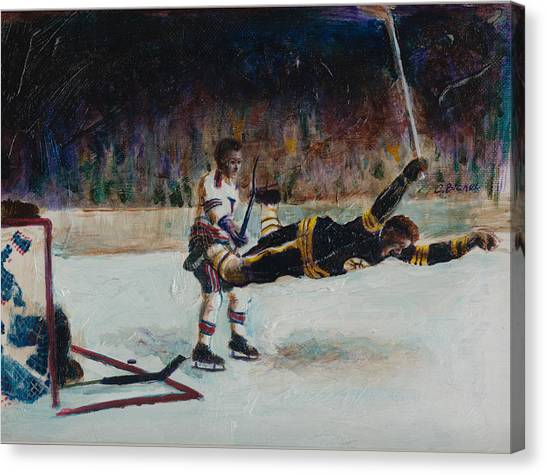 Bobby Orr Canvas Print - Bobby Orr by Charles  Bickel