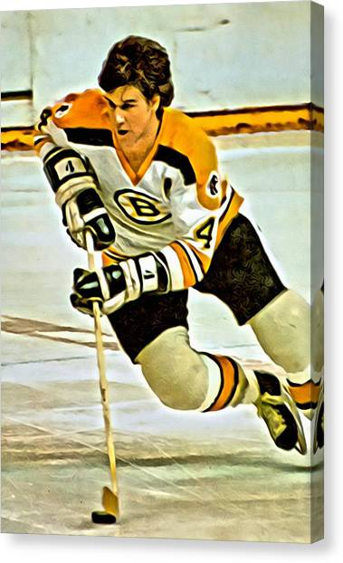 Hockey Players Canvas Print - Bobby Orr by Florian Rodarte