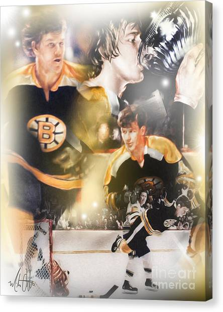 Bobby Orr Canvas Print - Bobby Orr by Mike Oulton