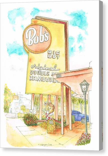 Bob's Big Boy In Burbank, California Canvas Print