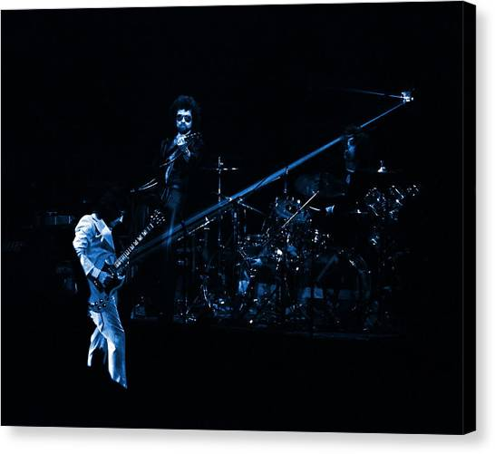 Boc #4 Lasers In Blue Canvas Print