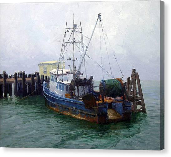 Bodega Canvas Print - Bodega Trawler by Armand Cabrera