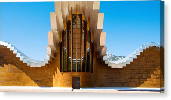 Bodega Canvas Print - Bodegas Ysios Winery Building, La by Panoramic Images