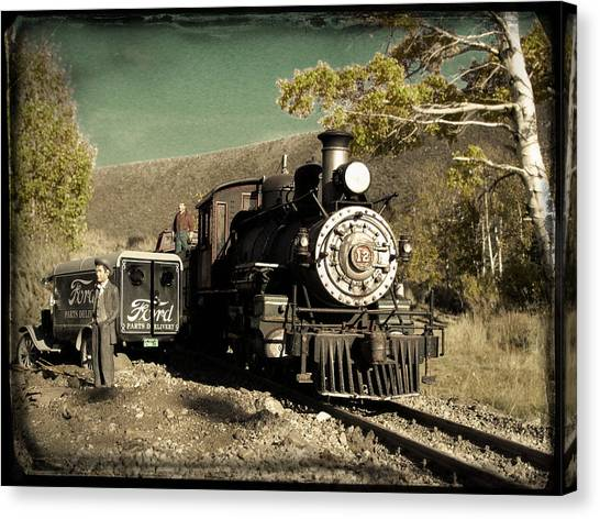 Bodie And Benton Road Crossing Canvas Print
