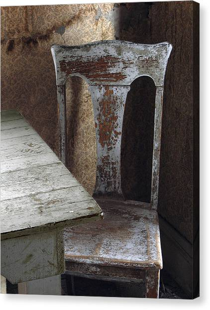 Bodie Chair And Table Canvas Print by David Marr