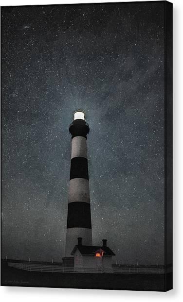 Bodie Island Light Midnight Canvas Print