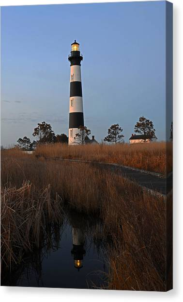 Bodie Island Light Reflection Canvas Print