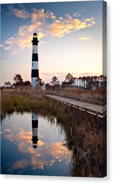 Lighthouse Canvas Print - Bodie Island Lighthouse - Cape Hatteras Outer Banks Nc by Dave Allen