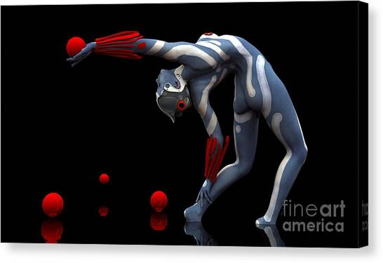 Body In Motion Canvas Print