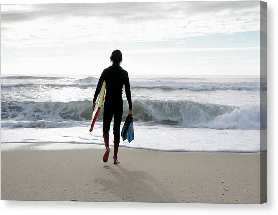 Bodyboard Canvas Print - Bodyboarder by Gustoimages/science Photo Library