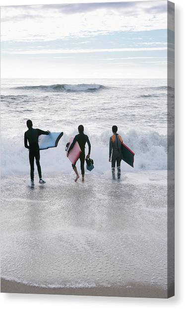 Bodyboard Canvas Print - Bodyboarders by Gustoimages/science Photo Library