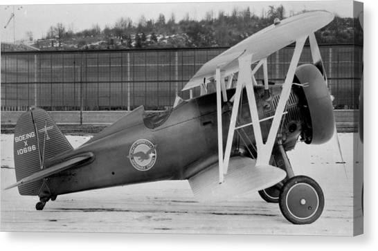 Boeing 100-f  P-12 Prototype Canvas Print by Hank Clark