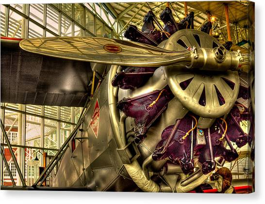 Prop Planes Canvas Print - Boeing 80a-1 Passenger Airplane by David Patterson