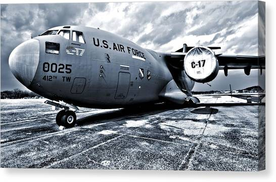 Nato Canvas Print - Boeing C-17 Airplane by Dan Sproul
