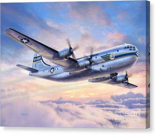 Pacific Division Canvas Print - Boeing Yc-97a Stratofreighter by Stu Shepherd