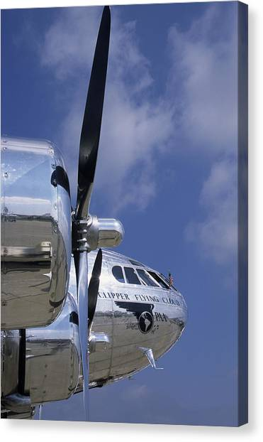 Smithsonian Institute Canvas Print - Boeing's Immacualtely Polished Stratoliner by Austin Brown