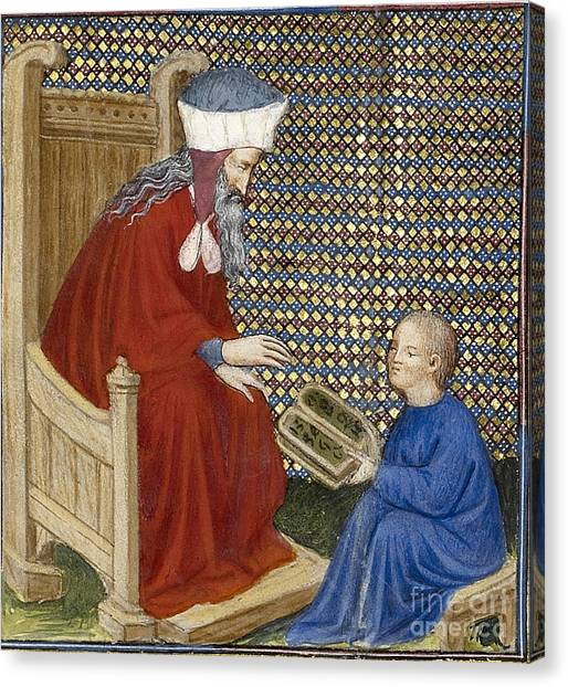 Notable Canvas Print - Boethius Instructs Boy In Arithmetic by Getty Research Institute