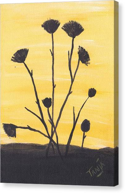 Bog Flower Bouquet Canvas Print