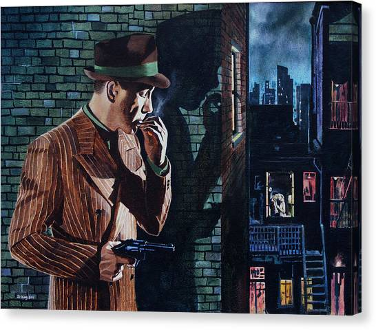 Bogart Is Waiting Canvas Print by Jo King
