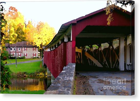 Bogerts Covered Bridge Allentown Pa Canvas Print