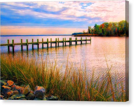 Bogles Wharf Landing Canvas Print
