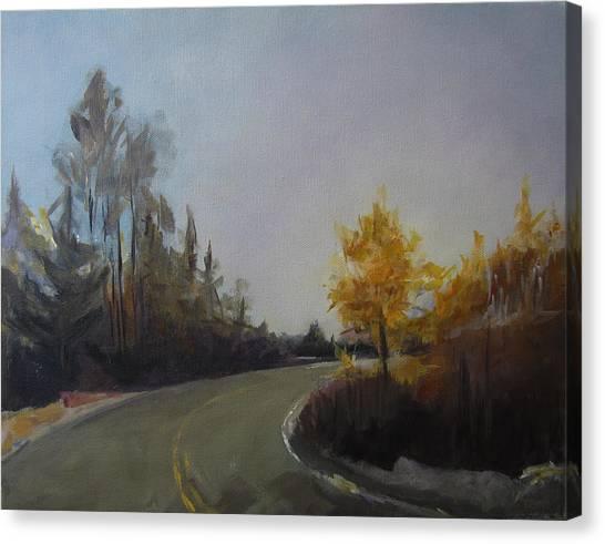 Bogus Basin Road Canvas Print by Terri Messinger
