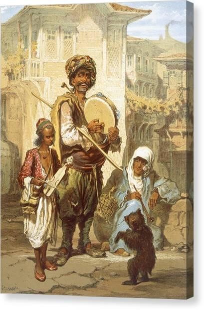Turkish Canvas Print - Bohemians, 1865 by Amadeo Preziosi