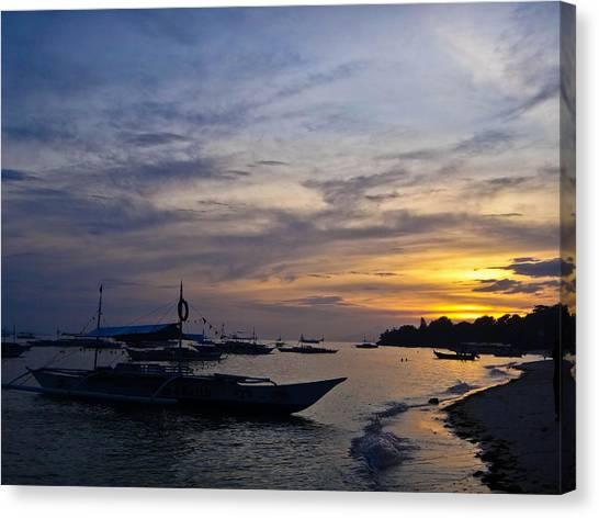 Bohol Sunset Canvas Print