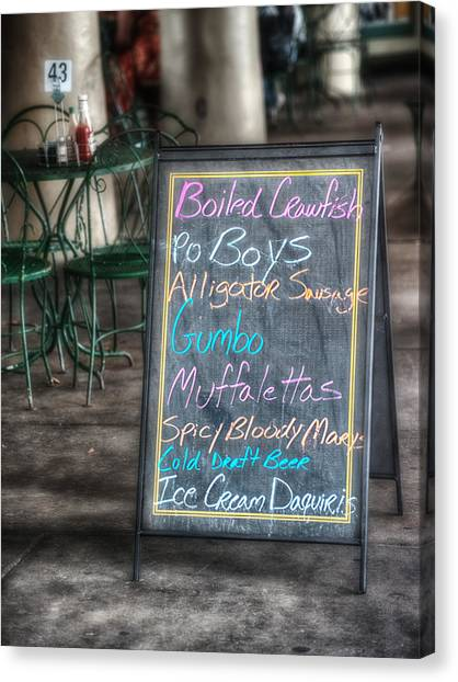 Gumbo Canvas Print - Boiled Crawfish Special by Brenda Bryant