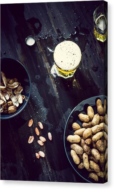 Boiled Peanuts And Beer Canvas Print