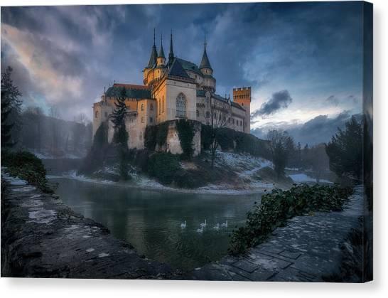 Medieval Canvas Print - Bojnice Castle by Karol Va?an