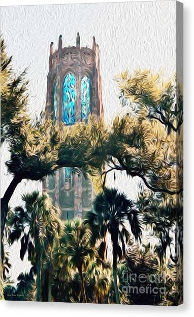 Bok Singing Canopy Tower Canvas Print
