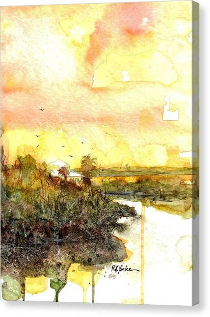 Bayous Canvas Print - Bokeelia Bayou by Robert Yonke