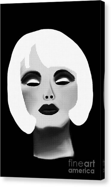 Bold Blonde Beauty Canvas Print