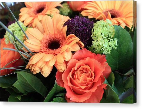 Bold Bouquet Canvas Print