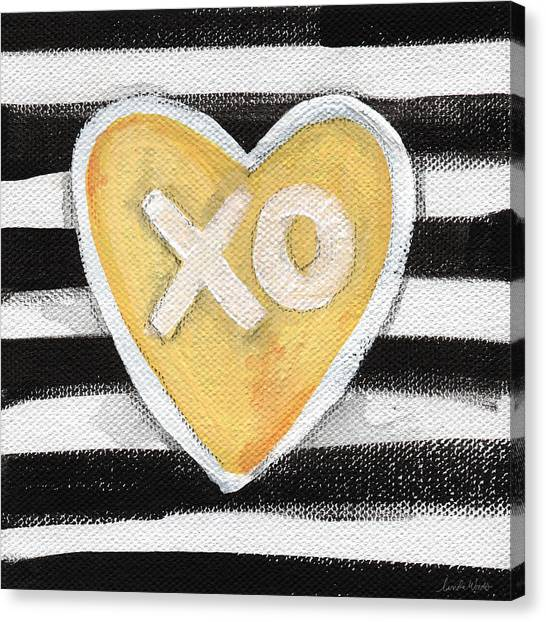 Heart Canvas Print - Bold Love by Linda Woods