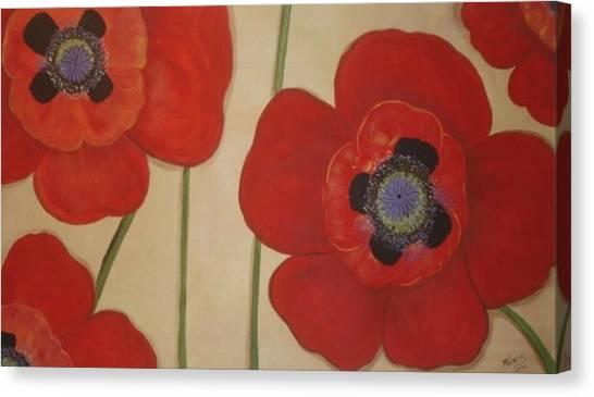 Bold Poppies Canvas Print