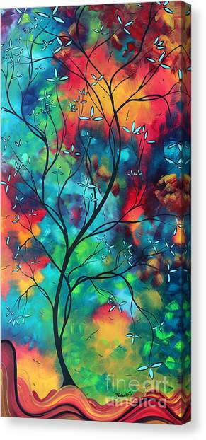 Canvas Print - Bold Rich Colorful Landscape Painting Original Art Colored Inspiration By Madart by Megan Duncanson