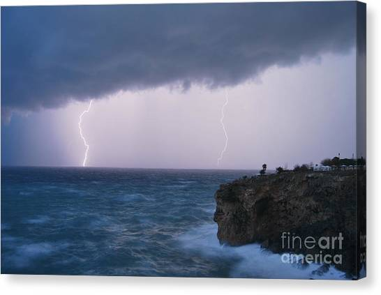 Bolts On The Water Canvas Print