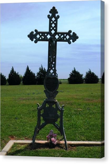 Bomarton Catholic Cemetery 8 Canvas Print